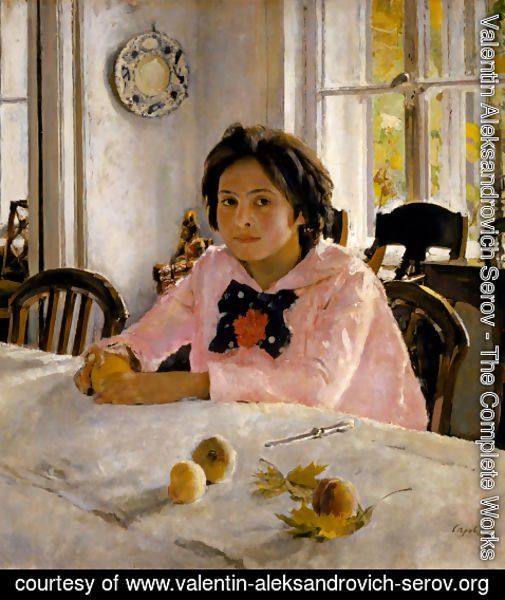 Valentin Aleksandrovich Serov - Girl with Peaches, 1887