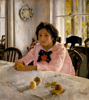 Elegant Valentin Aleksandrovich Serov   Girl With Peaches, 1887