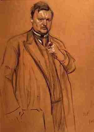 Portrait of the Composer Alekandr Konstantinovich Glazunov (1865-1936), 1906