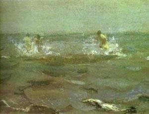 Bathing Of A Horse Detail 1905