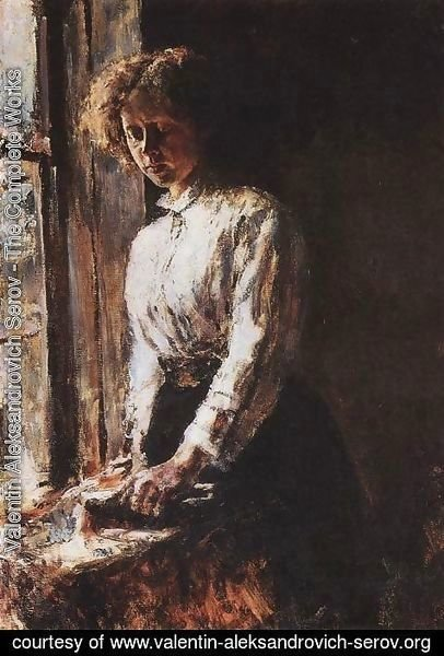 Valentin Aleksandrovich Serov - By The Window Portrait Of Olga Trubnikova 1886