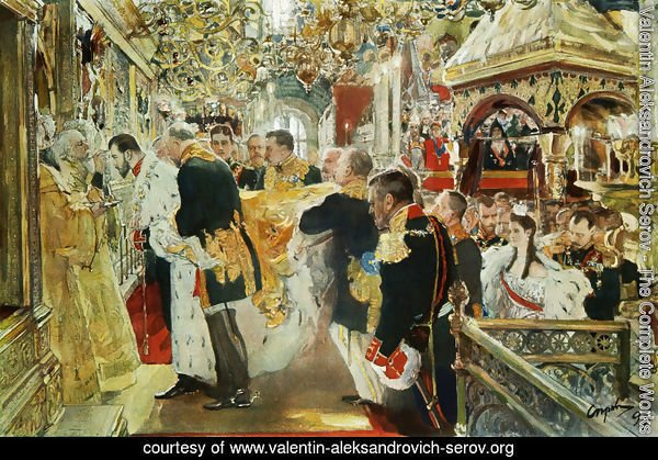 Coronation Of The Emperor Nicholas II In The Uspensky Cathedral 1896