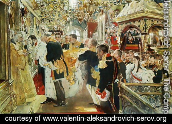 Valentin Aleksandrovich Serov - Coronation Of The Emperor Nicholas II In The Uspensky Cathedral 1896