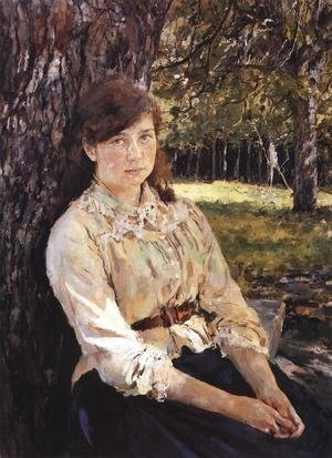 Valentin Aleksandrovich Serov - Girl In The Sunlight Portrait Of Maria Simonovich 1888