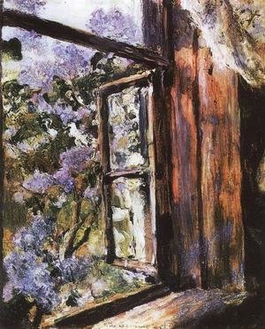 Open Window Lilacs Study 1886