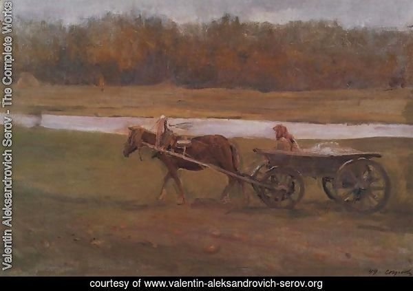 Peasant Woman In A Cart 1896