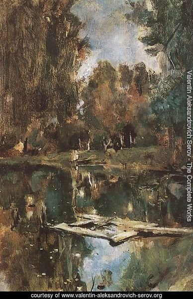Pond In Abramtsevo Study 1886