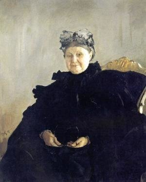 Portrait Of Maria Morozova 1897