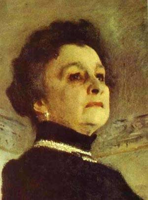 Valentin Aleksandrovich Serov - Portrait Of The Actress Maria Yermolova Detail 1905