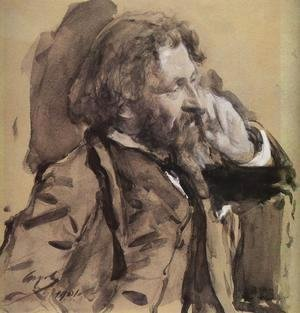 Portrait Of The Artist Ilya Repin 1901