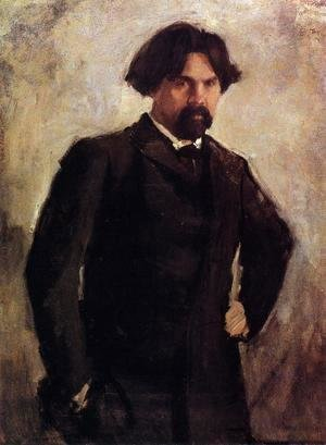 Valentin Aleksandrovich Serov - Portrait Of The Artist Vasily Surikov Late 1890s