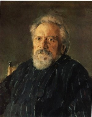 Valentin Aleksandrovich Serov - Portrait Of The Author Nikolay Leskov 1894