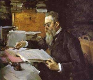 Valentin Aleksandrovich Serov - Portrait Of The Composer Nikolay Rimsky Korsakov 1898