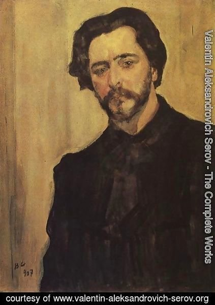 Valentin Aleksandrovich Serov - Portrait Of The Writer Leonid Andreev 1907