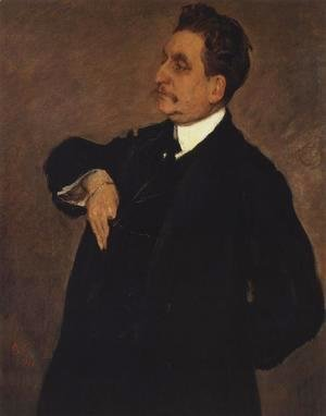 Portrait Of Vladimir Girshman 1911