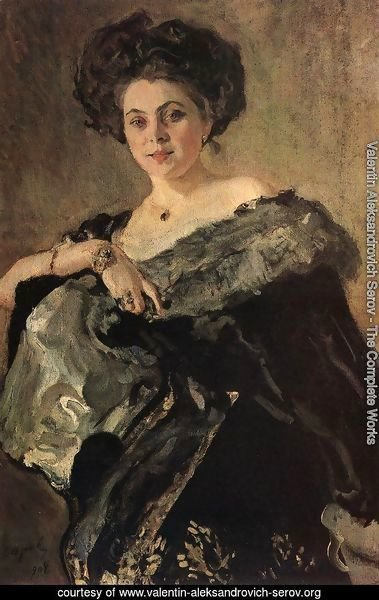 Portrait Of Yevdokia Morozova 1908