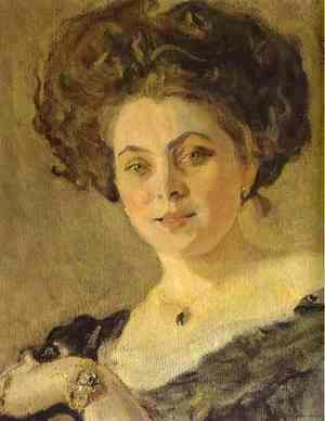 Portrait Of Yevdokia Morozova Detail 1908