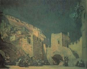 Valentin Aleksandrovich Serov - Set Design For The Opera Judith By Alexander Serov 1907