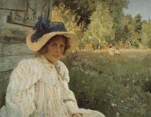 Summertime Portrait Of Olga Serova 1895