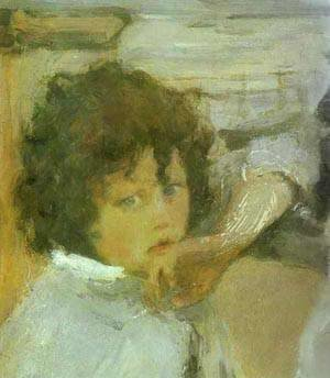 Valentin Aleksandrovich Serov - The Children (Sasha Serov) Detail 1899