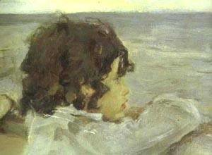 Valentin Aleksandrovich Serov - The Children (Yura Serov) Detail 1899
