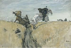 Valentin Aleksandrovich Serov - The Hunt With Borzois, 1906