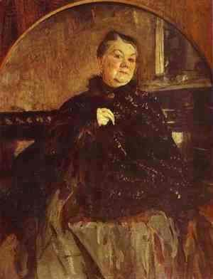 Valentin Aleksandrovich Serov - Portrait of the Actress Glikeria Fedotova