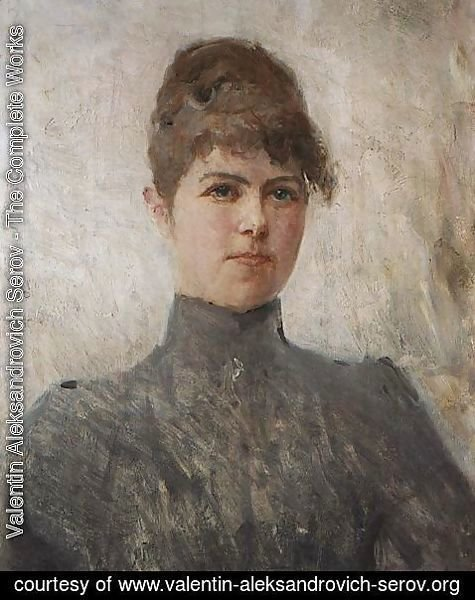 Valentin Aleksandrovich Serov - Portrait of actress M.Ya.Van-Zandt, in a marriage Cherinova