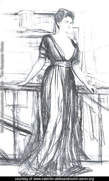 Sketch for a portrait of P.I. Scherbatova