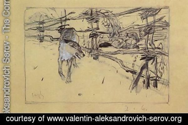 Valentin Aleksandrovich Serov - The Wolf and the Shepherds