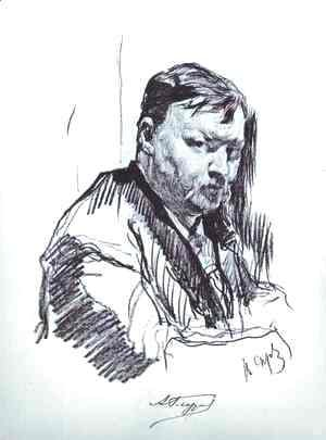 Portrait of the Composer Alexander Glazunov