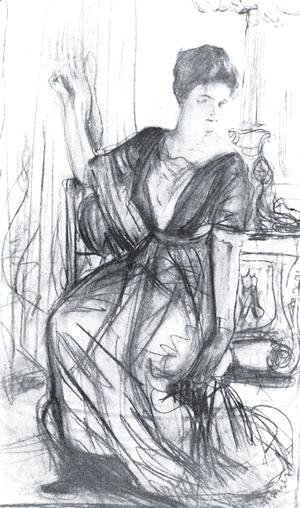 Sketch for a portrait of P.I. Scherbatova 2