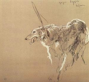 Valentin Aleksandrovich Serov - Greyhound royal hunting