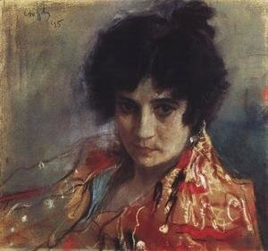 Valentin Aleksandrovich Serov - Portrait of an Unknown
