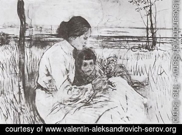 Valentin Aleksandrovich Serov - Children of the artist. Olga and Anton Serov